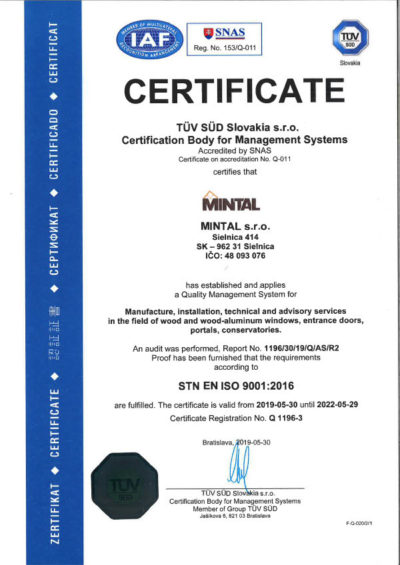 Certificate Tuv 2019En